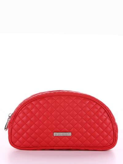 Брендова косметичка, модель 344 червоний. Фото товару, вид збоку.