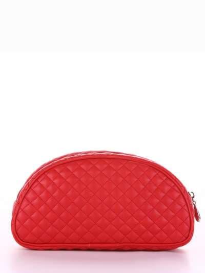 Брендова косметичка, модель 344 червоний. Фото товару, вид ззаду.