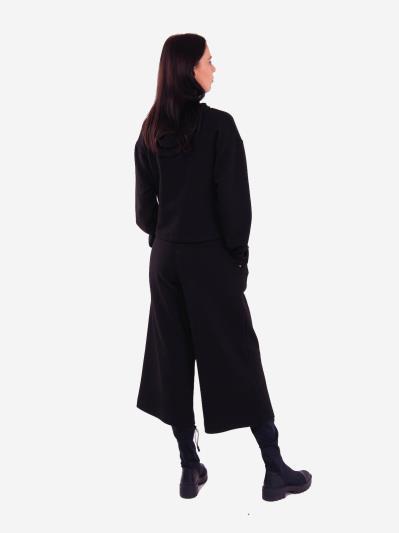 alba soboni. Женский костюм с кюлотами L черный (202-012-01). Вид 3.