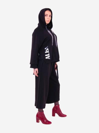 alba soboni. Жіночий костюм з кюлотами L чорний (202-015-01). Вид 2.