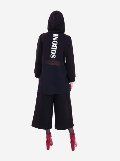 alba soboni. Жіночий костюм з кюлотами L чорний (202-015-01). Вид 3.