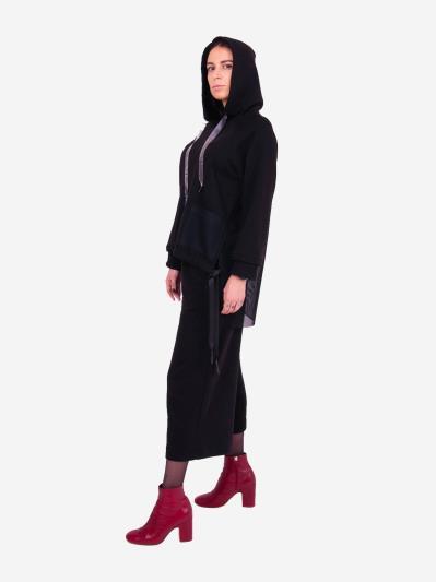 alba soboni. Жіночий костюм з кюлотами L чорний (202-015-01). Вид 4.
