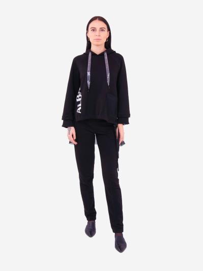 alba soboni. Жіночий костюм з брюками L чорний (202-015-02). Вид 1.