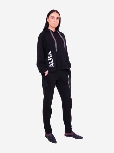 alba soboni. Жіночий костюм з брюками L чорний (202-015-02). Вид 2.