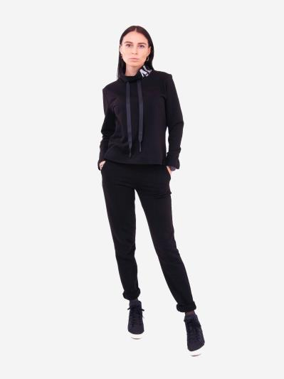 alba soboni. Жіночий костюм з брюками L чорний (202-016-02). Вид 1.