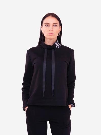 alba soboni. Жіночий костюм з брюками L чорний (202-016-02). Вид 2.