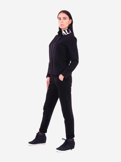alba soboni. Жіночий костюм з брюками L чорний (202-016-02). Вид 3.