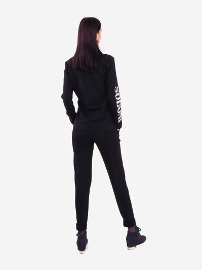 alba soboni. Жіночий костюм з брюками L чорний (202-016-02). Вид 4.