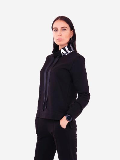 alba soboni. Жіночий костюм з брюками L чорний (202-016-02). Вид 5.