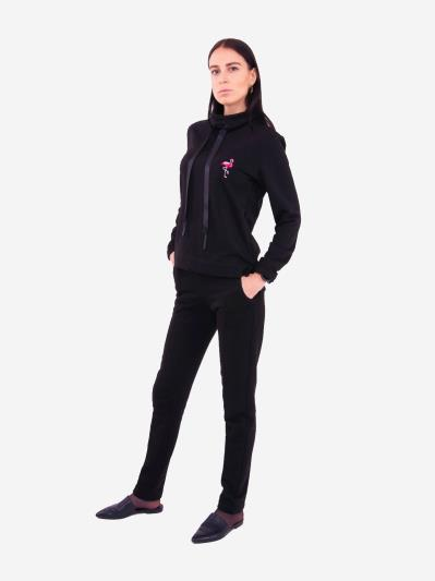 alba soboni. Жіночий костюм з брюками L чорний (202-017-02). Вид 1.