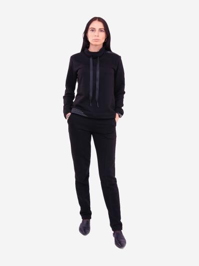 alba soboni. Жіночий костюм з брюками L чорний (202-018-02). Вид 1.