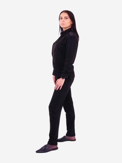 alba soboni. Жіночий костюм з брюками L чорний (202-018-02). Вид 2.