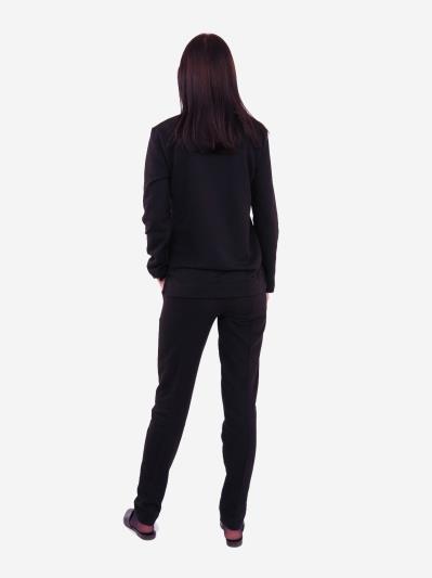 alba soboni. Жіночий костюм з брюками L чорний (202-018-02). Вид 4.