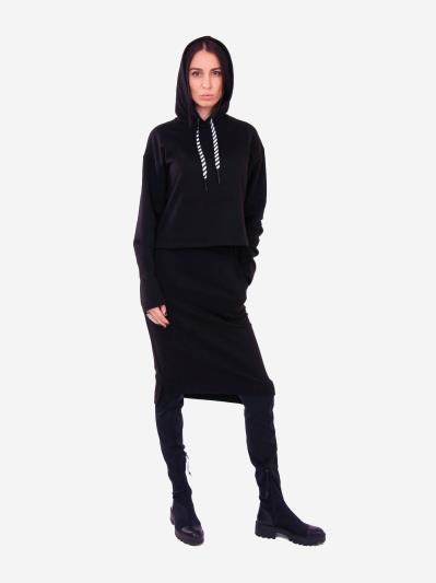 alba soboni. Жіночий костюм з юбкою L чорний (202-014-03). Вид 1.