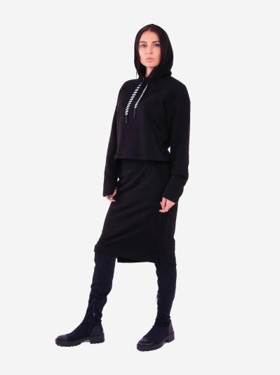 alba soboni. Жіночий костюм з юбкою L чорний (202-014-03). Вид 4.