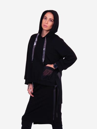 alba soboni. Жіночий костюм з юбкою L чорний (202-015-03). Вид 4.
