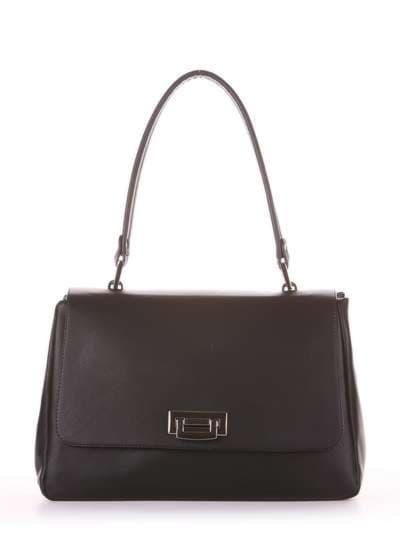Молодежная сумка-портфель, модель 181531 черный. Фото товара, вид спереди._product-ru