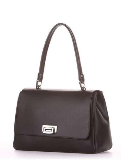 Молодежная сумка-портфель, модель 181531 черный. Фото товара, вид сзади.