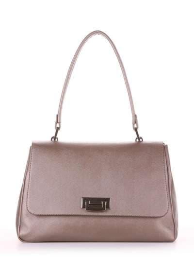 Стильная сумка-портфель, модель 181532 бронза. Фото товара, вид спереди._product-ru