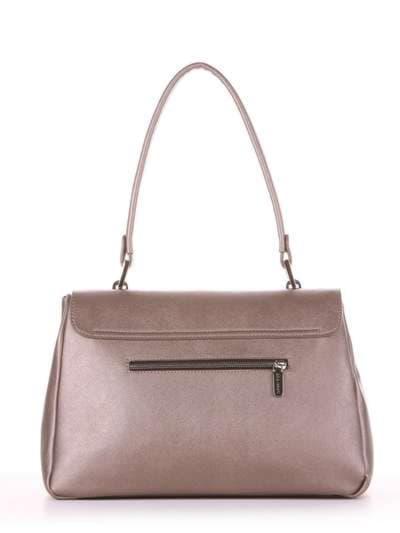Стильная сумка-портфель, модель 181532 бронза. Фото товара, вид дополнительный.