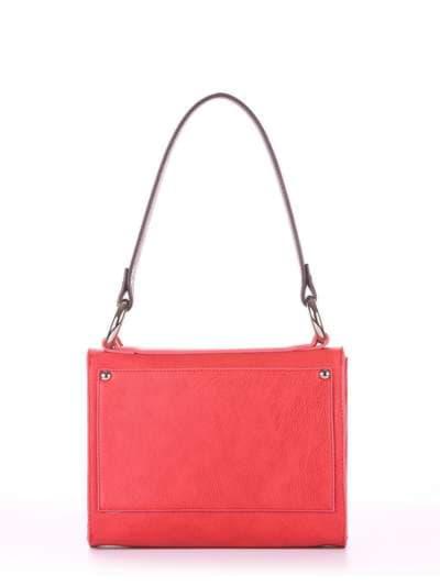 Модная сумка маленькая, модель E18023 красный-баклажан. Фото товара, вид сзади.