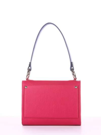 Молодежная сумка маленькая, модель E18024 ягода-синий. Фото товара, вид сзади.