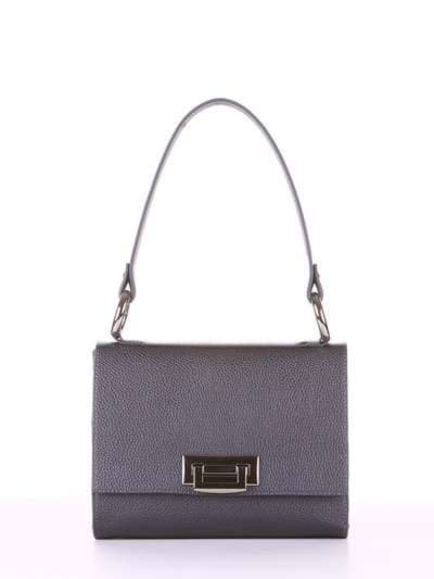 Стильна сумка маленька, модель E18026 графіт. Фото товару, вид спереду.