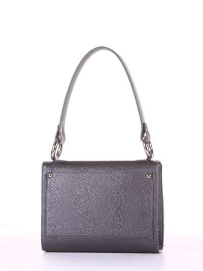 Стильна сумка маленька, модель E18026 графіт. Фото товару, вид ззаду.