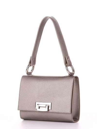 Брендовая сумка маленькая, модель E18027 оливковый. Фото товара, вид сзади.