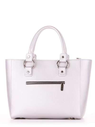 Молодежная сумка, модель 181722 серебро. Фото товара, вид дополнительный.