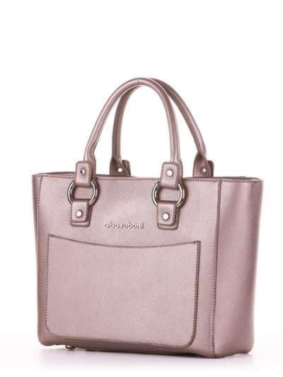 Модная сумка, модель 181723 бронза. Фото товара, вид сзади.