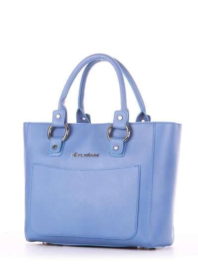 Стильная сумка, модель 181724 голубая волна. Фото товара, вид сзади.