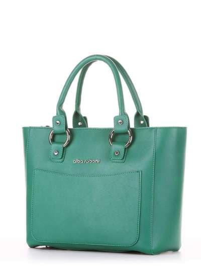 Брендовая сумка, модель 181725 зеленый. Фото товара, вид сзади.