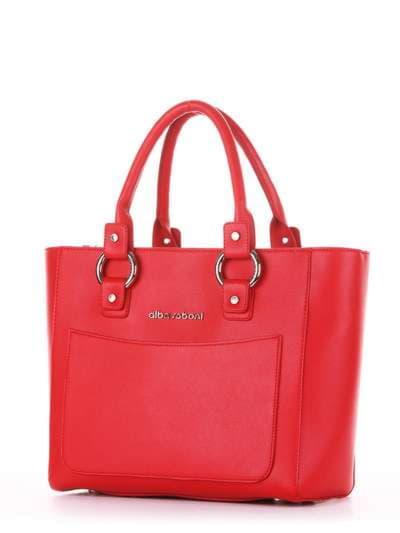Брендовая сумка, модель 181726 красный. Фото товара, вид сзади.