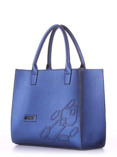 Брендовая сумка, модель E18005 сапфир. Фото товара, вид сбоку.
