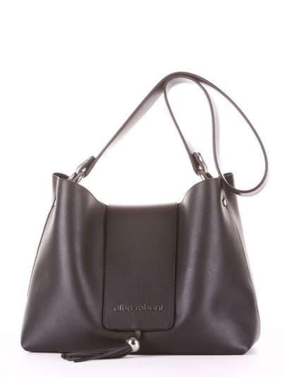 Модная сумка, модель E18031 черный. Фото товара, вид спереди.