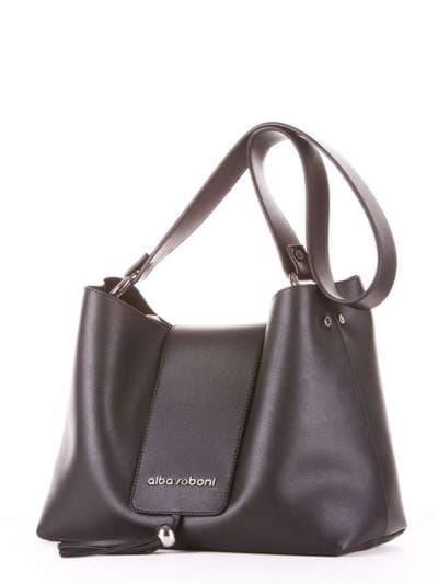 Модная сумка, модель E18031 черный. Фото товара, вид сзади.