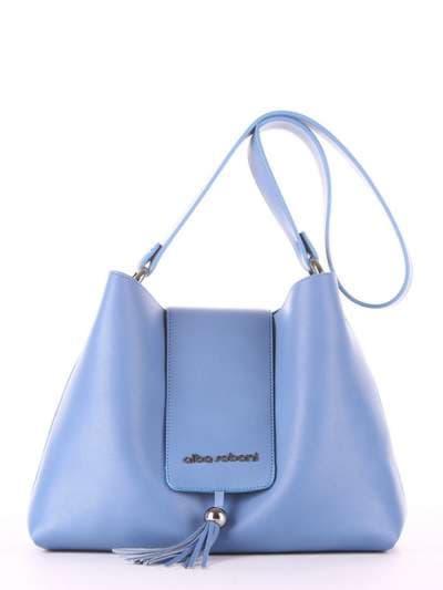 Молодежная сумка, модель E18034 голубая волна. Фото товара, вид спереди.