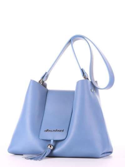 Молодежная сумка, модель E18034 голубая волна. Фото товара, вид сзади.