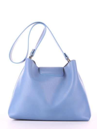 Молодежная сумка, модель E18034 голубая волна. Фото товара, вид дополнительный.