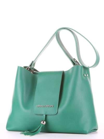Брендова сумка, модель E18035 зелений. Фото товару, вид ззаду.