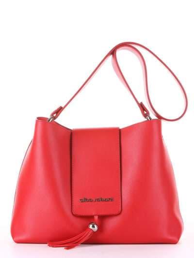 Стильная сумка, модель E18036 красный. Фото товара, вид спереди.