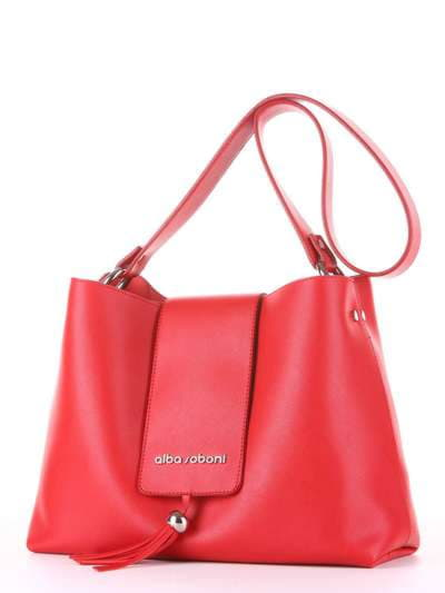 Стильная сумка, модель E18036 красный. Фото товара, вид сзади.