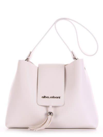 Стильная сумка, модель E18037 белый. Фото товара, вид спереди.