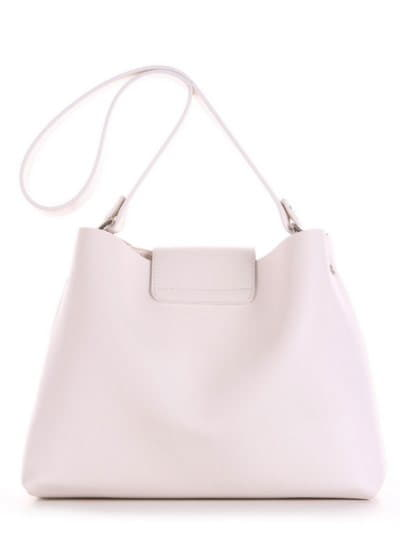 Стильная сумка, модель E18037 белый. Фото товара, вид сзади.