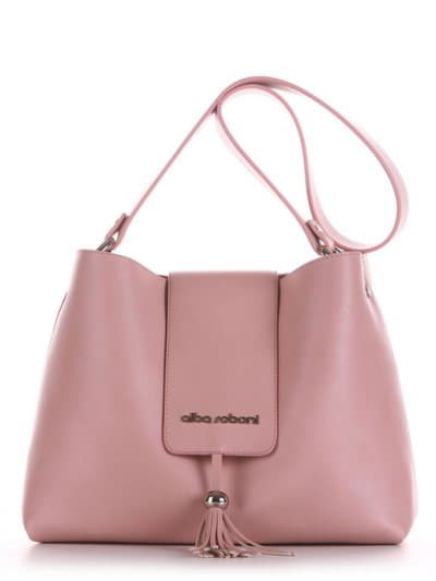 Модная сумка, модель E18039 пудрово-розовый. Фото товара, вид спереди.