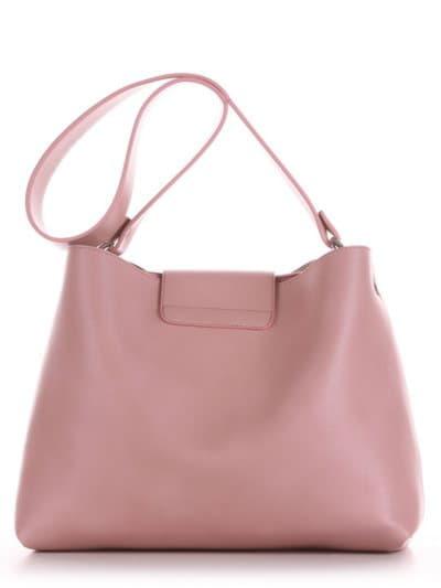 Модная сумка, модель E18039 пудрово-розовый. Фото товара, вид сзади.