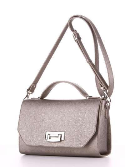 Брендовая деловая сумочка, модель E18017 оливковый. Фото товара, вид сзади.