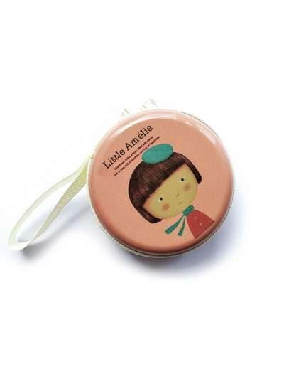 Стильний чохол для навушників для навушників з дівчиною рожевий. Фото товару, вид 1