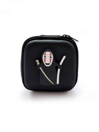 Молодежный чехол для наушников для наушников каонаси с мечами черный. Фото товара, вид 1